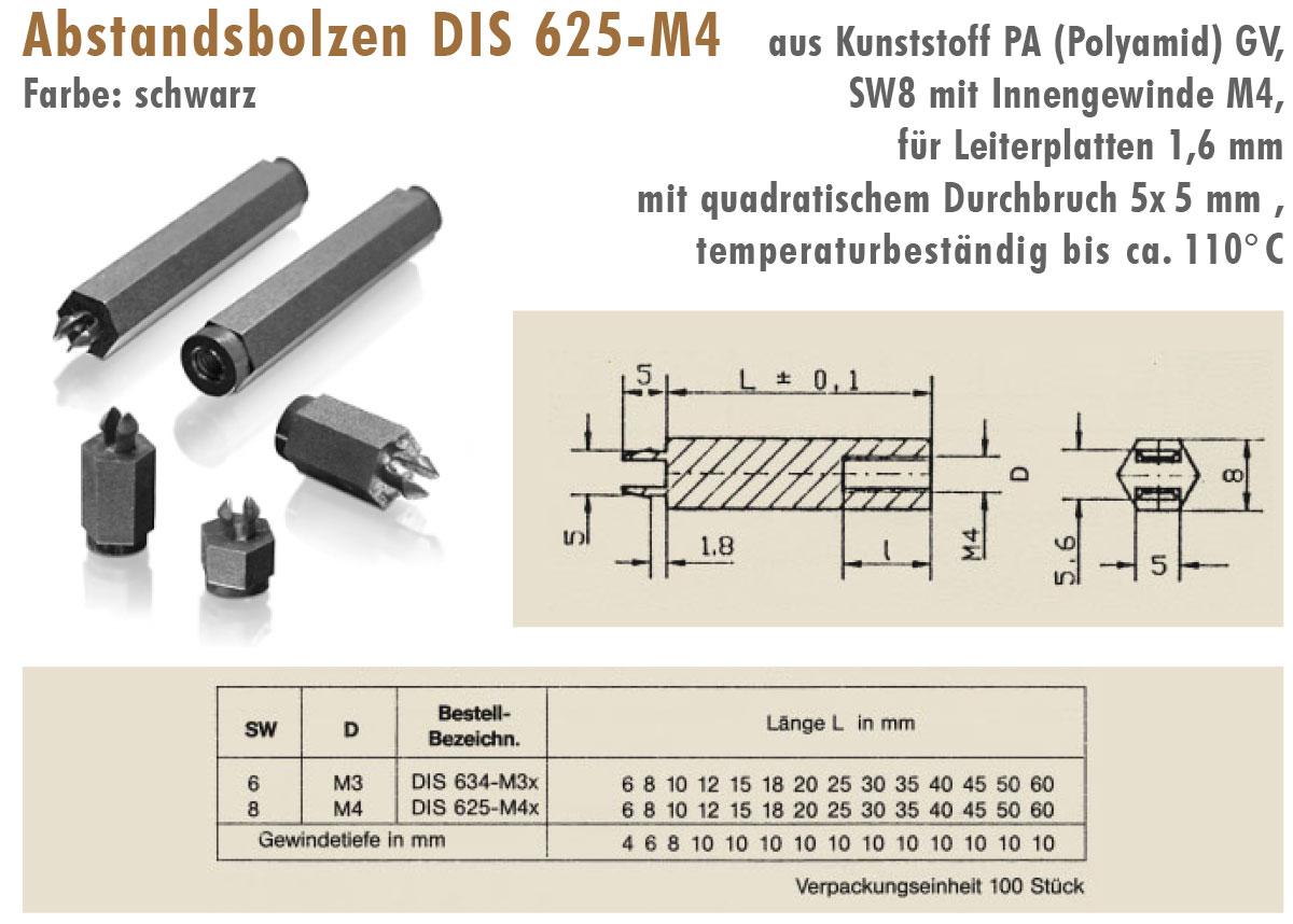 EL2 Distanz-und Abstandsbolzen